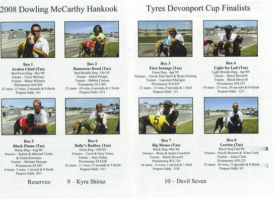 2008 Devonport Cup Finalists