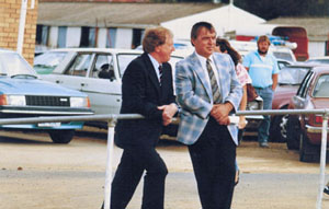 Steve with former Minister For Racing Harry Holgate