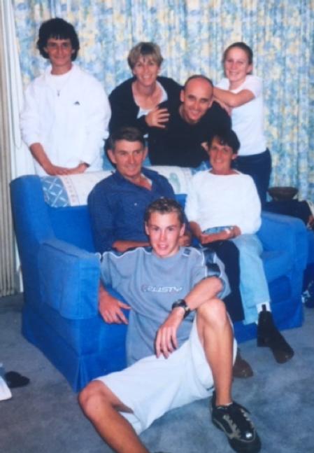 The Crosswell clan ... (Back) Michelle, Debbie, Stephen, Kate (Centre) David, Margaret (Front) Matthew